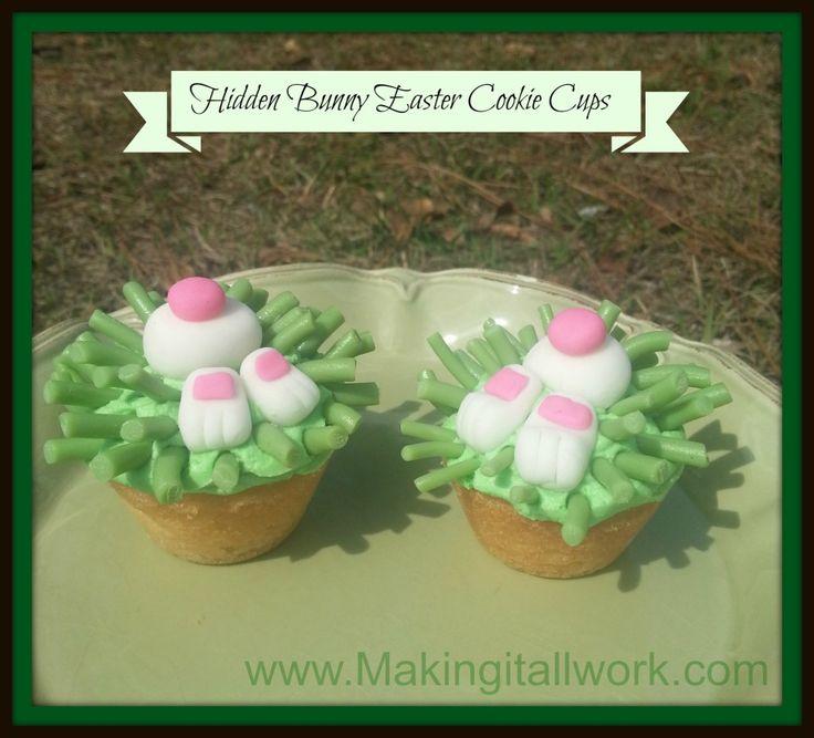 Hidden Bunny Easter Cookie Cups