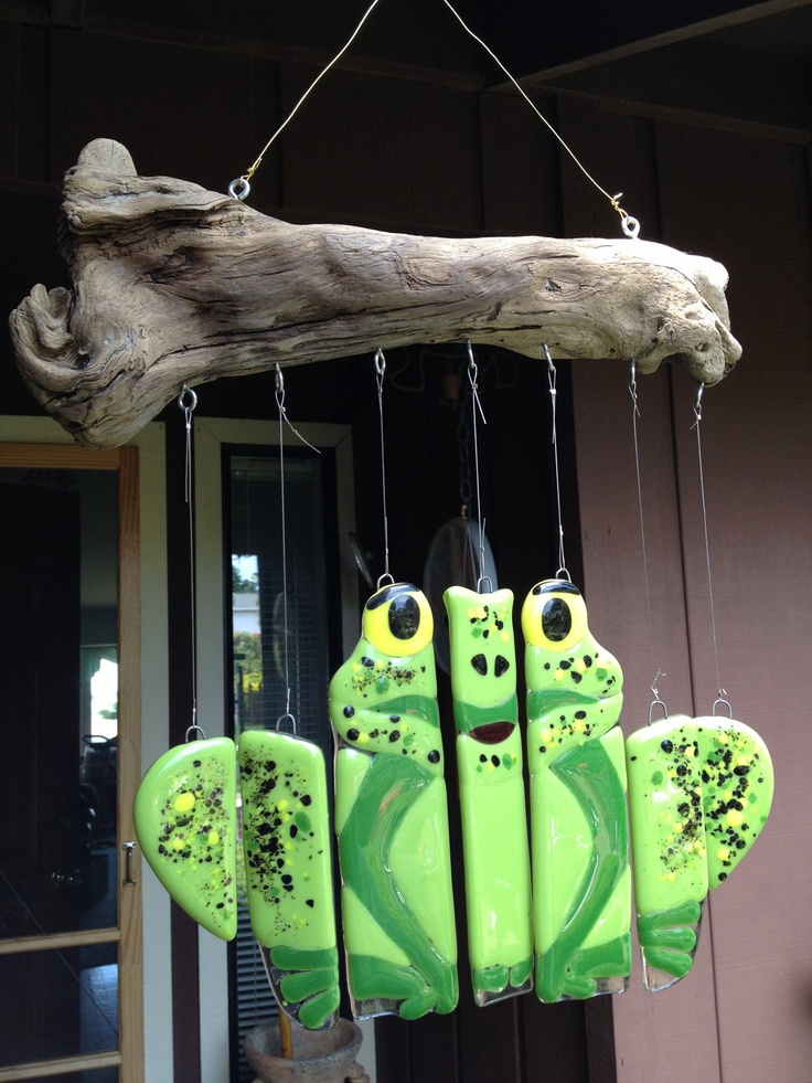Fused Glass Frog Windchime. $85.00, via Etsy.