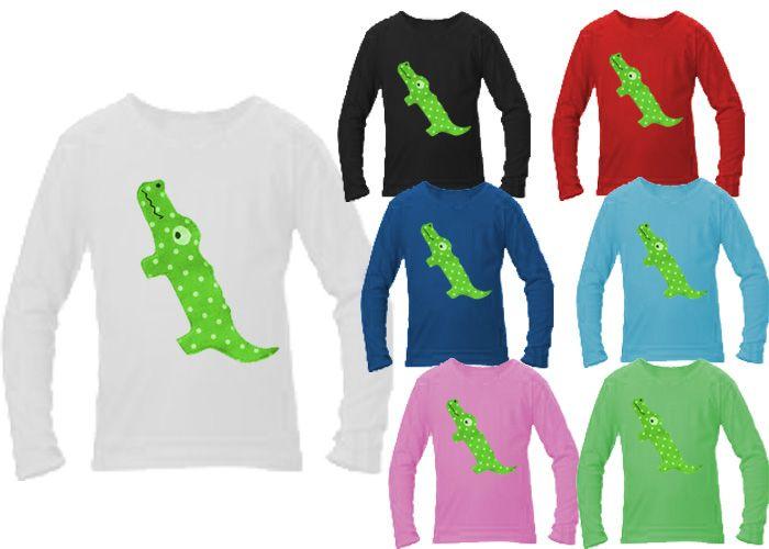 Dětské triko dl.rukáv - krokodýl