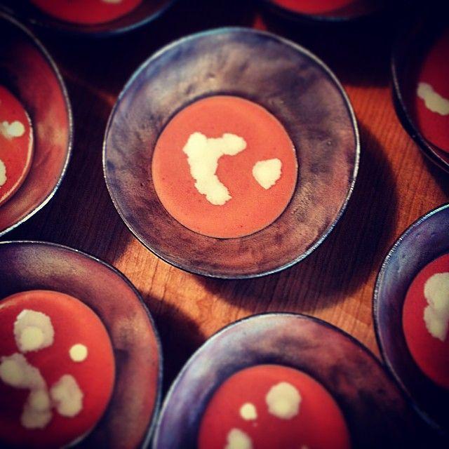 hosokawaai ルバーブ、木苺、桃のスープ