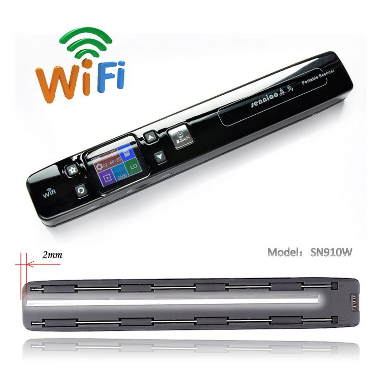 senniao SN910W handy portable scanner A4JPG&PDF HD1050dpi Double roller Zero margin Book WiFi Automatic synthesis of large image