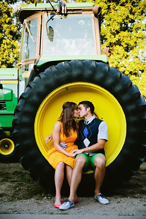 Carnival engagement | Photo by Look Here Photography | 100 Layer Cake