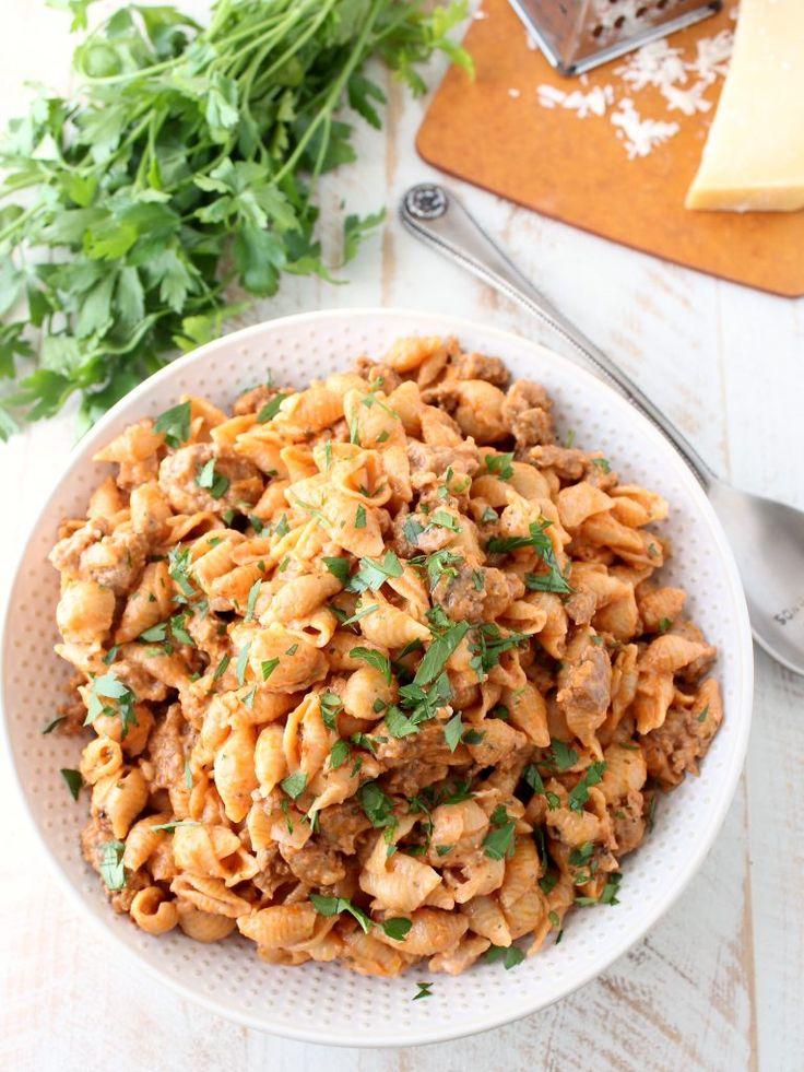 Italian Sausage Shells and Cheese Recipe