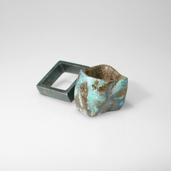 carved air. boulder opal, silver #sculturaperlamano #handsculpture #sergiostefanospivach: