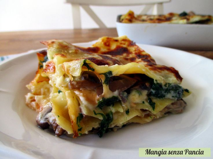 Lasagne+ai+funghi+e+spinaci