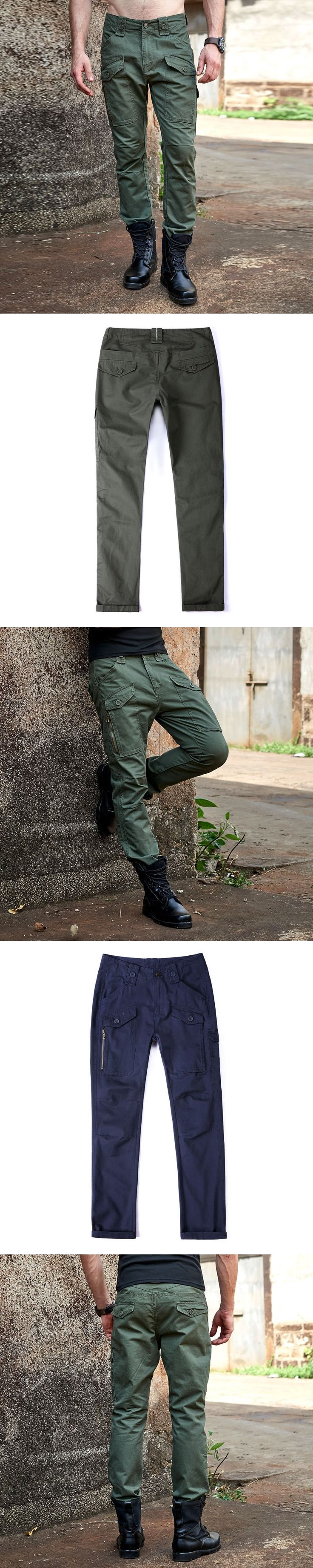 TACTICAL CARGO PANTS Overalls Men's Millitary Clothing Casual Cotton Pants Camouflage Army Style Multi Pocket Trousers