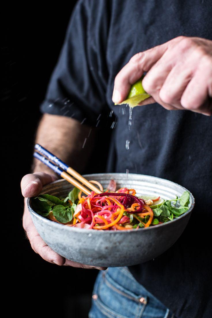 Rainbow Veggie Pad Thai Noodles