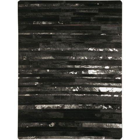 Кожаный черный ковер Hoover #carpet #carpets #rugs #rug #interior #designer #ковер #ковры #коврыизшкур #шкуры #дизайн #marqis