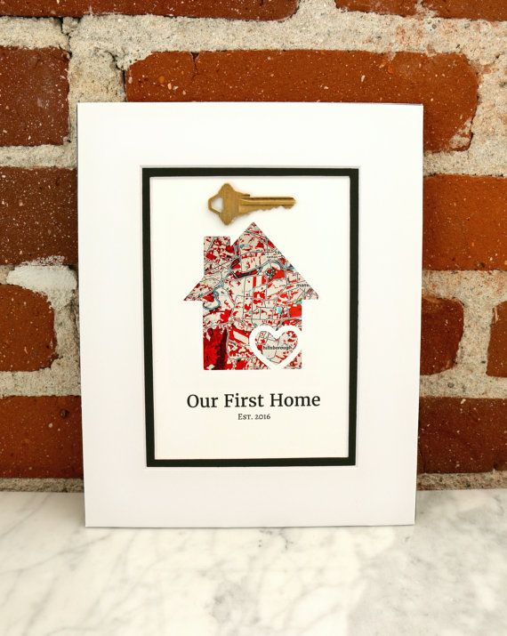 House Key Wall Art Our First Home  Personalized Home by HandmadeHQ