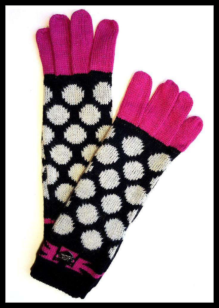Betsey Johnson Polka-Dot Gloves
