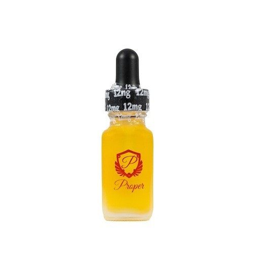 The Red Label by Proper E-Liquid - A strawberry and Nutella cheesecake, crepe with a decadent drizzle.90% VG