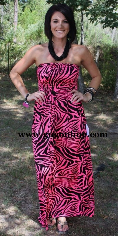 6913cb76402766 SALE Spoil Yourself Neon Pink Zebra Maxi FINAL $24.47 www.gugonline.com | Giddy  Up Glamour | Fashion, Color me beautiful, Giddy up glamour