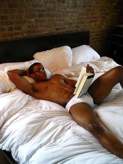 Sexy black man sleep