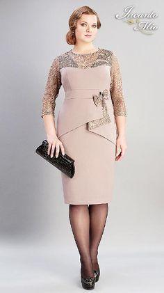 Resultado de imagem para трикотажные платья для полных