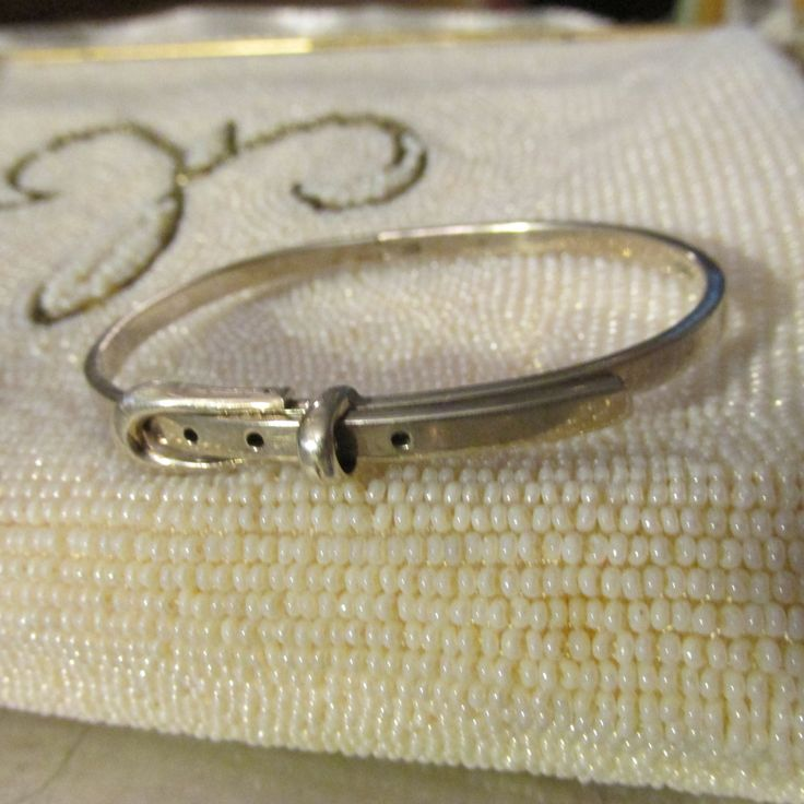 Vintage Sterling Silver BRACELET Fashioned as BELT Marked 925 MEXICO 1960's Womens Gift Casual Birthday Hand Made Estate Find by GrammiesCupboard on Etsy