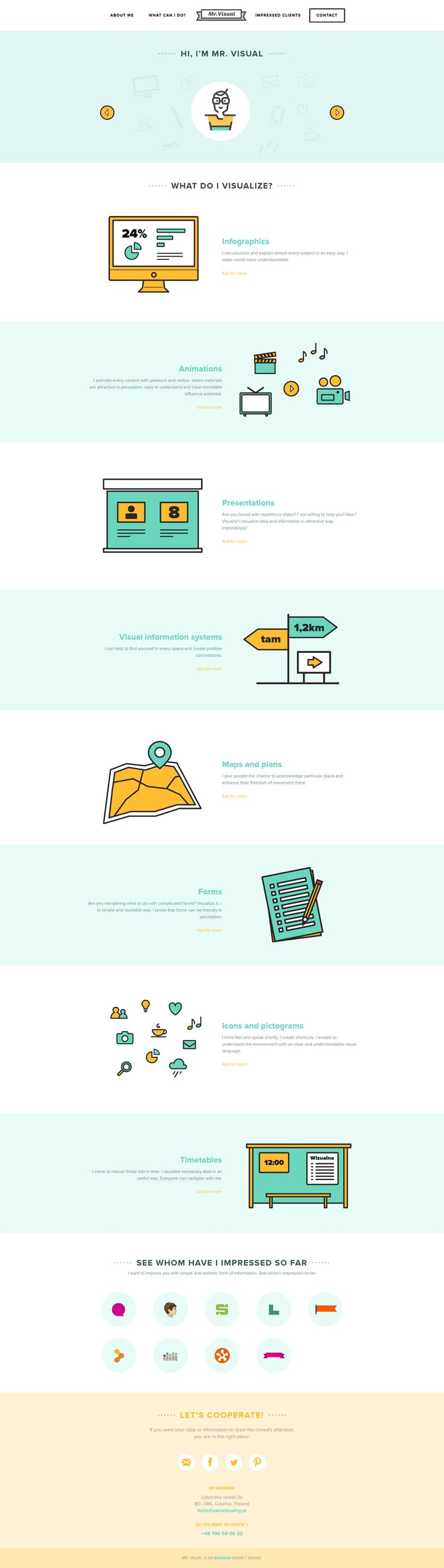 Unique Web Design, Mr.Visual #webdesign #design (http://www.pinterest.com/aldenchong/)