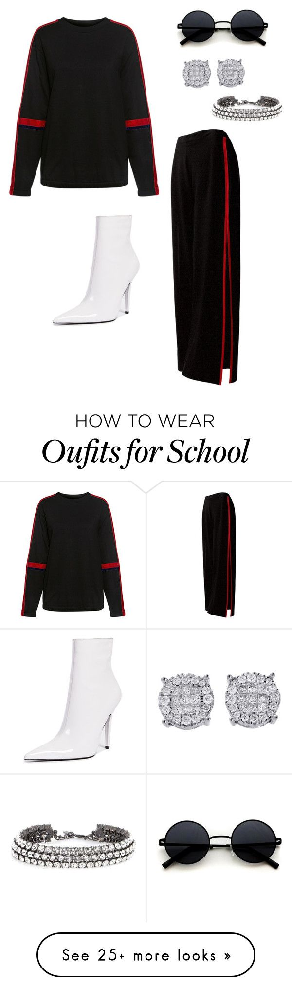 """Go to outfit"" by nooranssf on Polyvore featuring Public School, Sans Souci, Oscar de la Renta, Jeffrey Campbell and Hoodies"