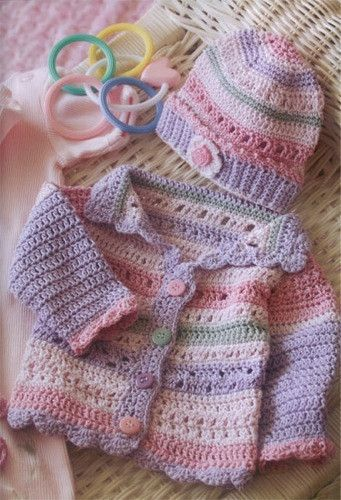 493029a08 Image result for free crochet baby girl cardigan patterns