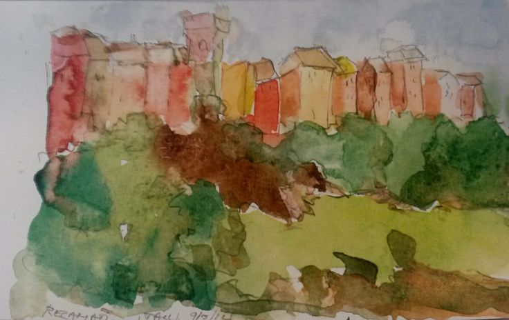 Thanks to our friend and guest Josephine Tate. Watercolor, #Recanati