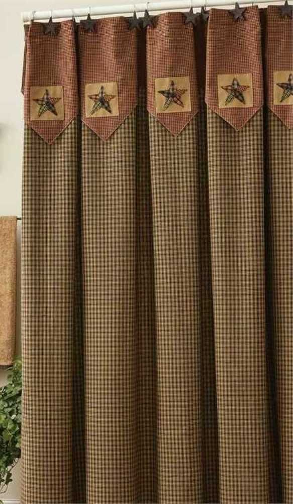 Ebay Sponsored Primitive Country Pieced Star Shower Curtain 72x72