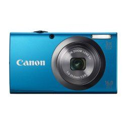 The Canon 6193B100 PowerShot A2300 16MP Compact Digital Camera, in blue is simple and stylish. This chic compact camera is packed with advancements that make it easy to get a great shot every time. Smart AUTO recognizes 32 predefined shooting situations then automatically picks the proper camera settings for you. Saving memories in breathtakingly realistic 720p HD is as easy as pressing the dedica
