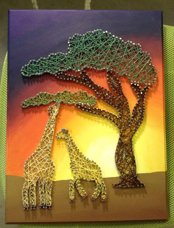 Giraffe String Art