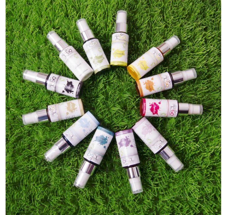 Encre végétale scintillante Spray – Coffret 12 couleurs