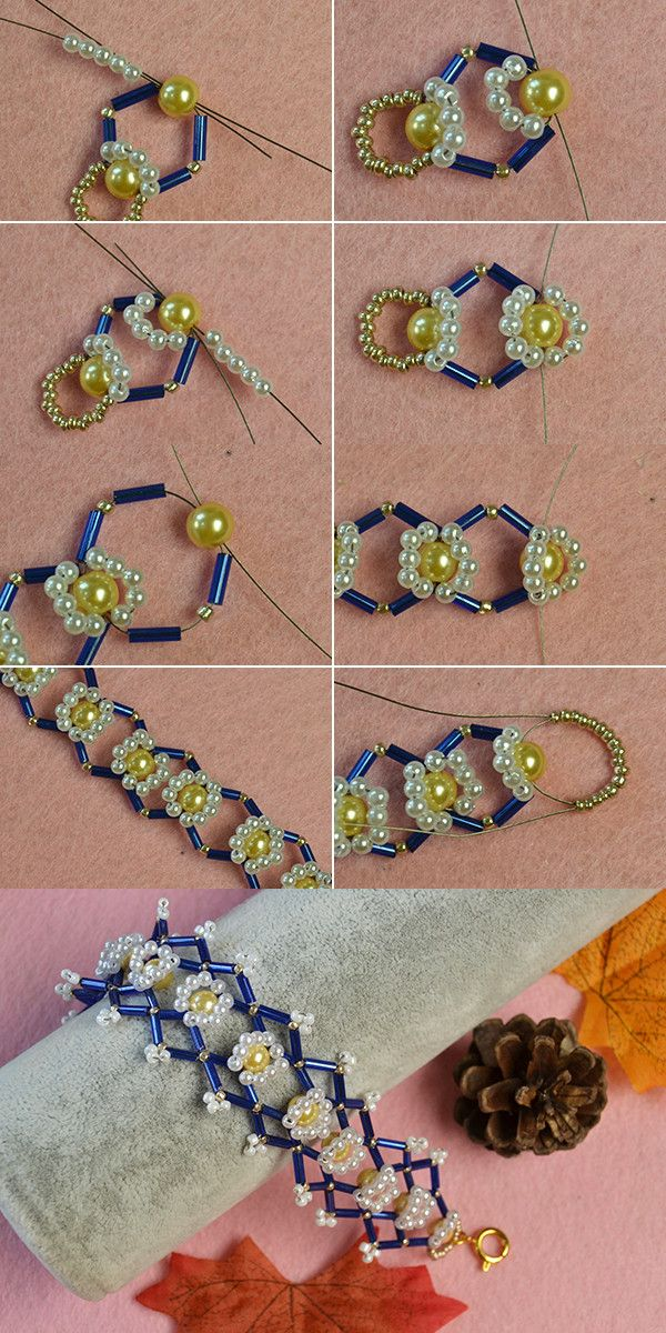 Like the flower beads bracelet with bulge beads?The details will be shared by LC.Pandahall.com