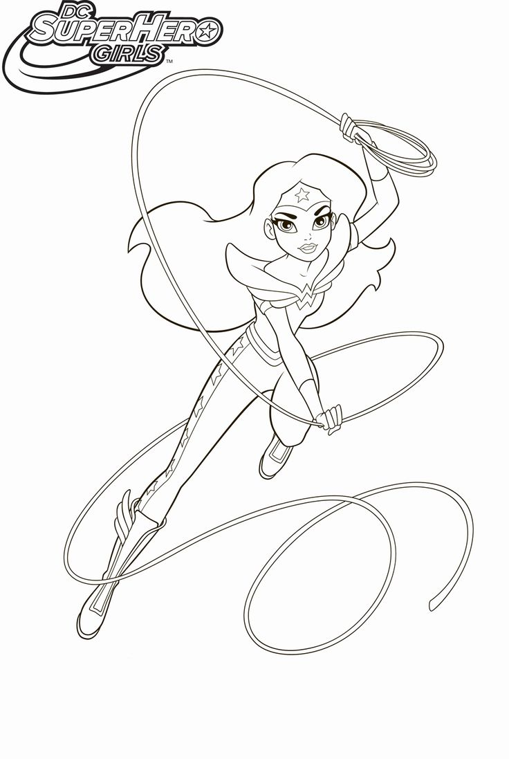 Chibi Dc Superhero Girls Coloring Pages for Kids in 2020 ...