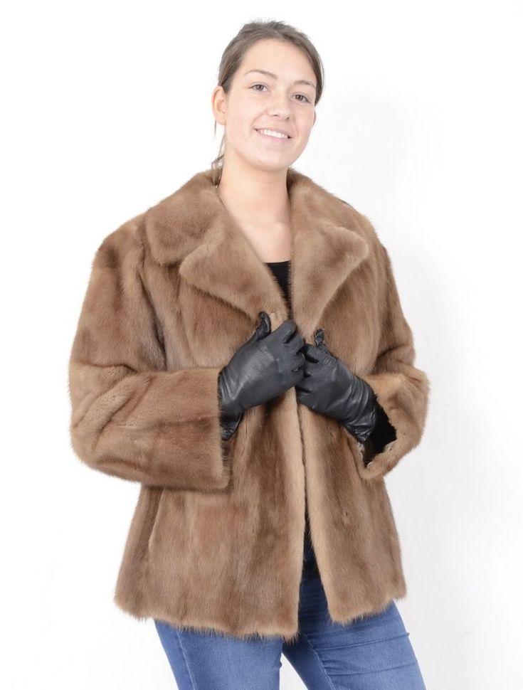 A802 Nerzjacke Pelzjacke Pelz Nerz Jacke Fur Mink Jacket Coat Pelliccia ca. 38