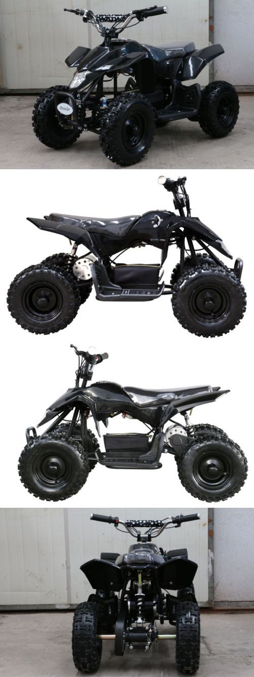 Complete Go-Karts and Frames 64656: Minimotos 12V Powered Wheels Quad Atv Kids 4 Wheeler Ride On Black BUY IT NOW ONLY: $349.99
