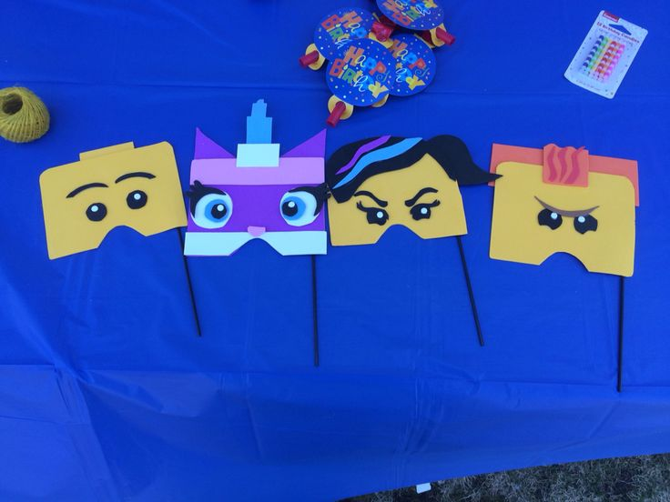 Photo booth props Lego figures