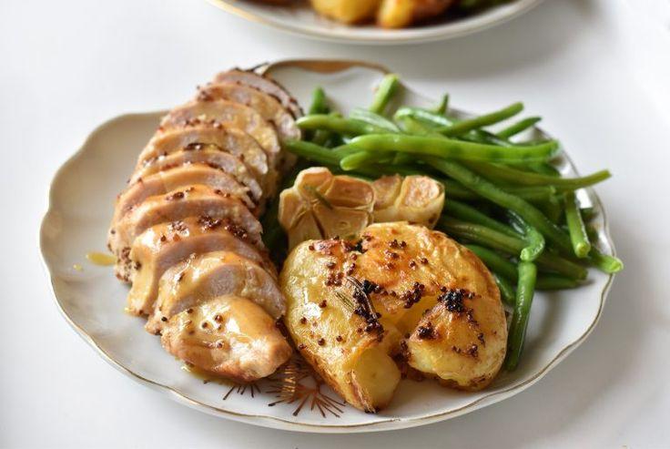חזה עוף בחרדל ודבש עם קווטץ' תפוחי אדמה - קרוטית - Krutit