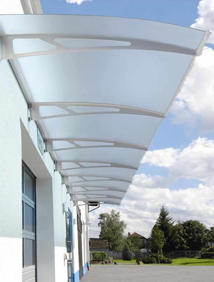 Glass canopy.