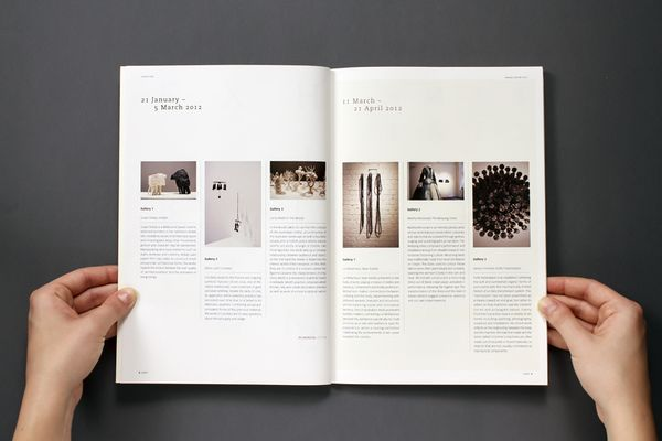 Annual report - Craft by Vibeke Illevold, via Behance