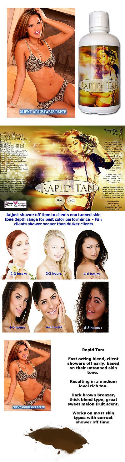 Sunless Tanning Products: Rapid Tan Fast Sunless Spray Tan Solution Tampa Bay Tan - 1 Gal - New Design -> BUY IT NOW ONLY: $89.99 on eBay!