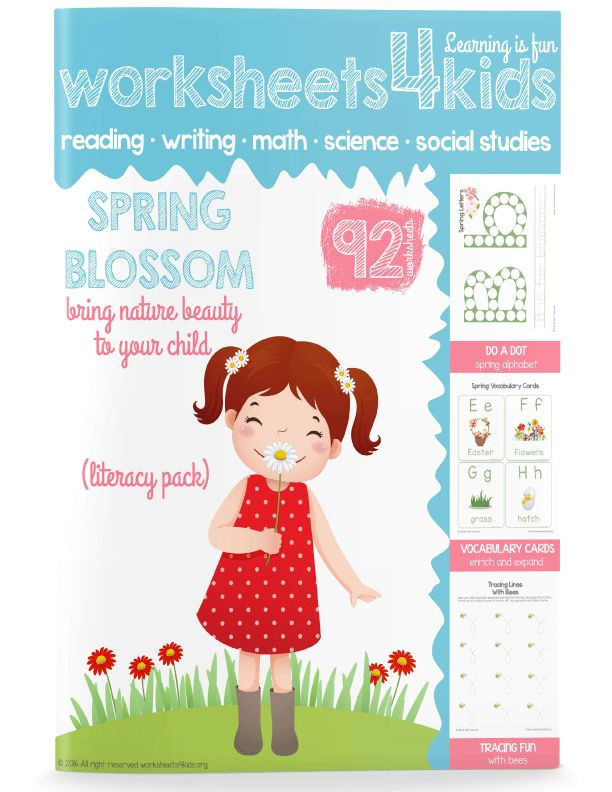 This Spring printables are great for preschool and kindergarten kids. With these worksheets, kids will explore spring vocabulary, practice letters, learn to read and spell sight words. With stickers, every lesson will turn into a fun learning time.  You can also use this pack as after school activity at home with your child.