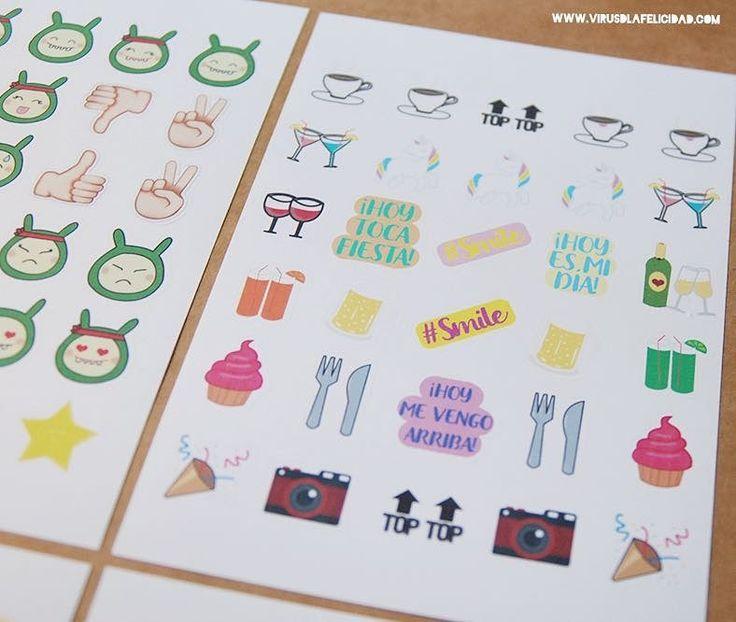 Pegatinas para tu agenda calendario libreta... o para decorar lo que se te ocurra  Pídelas en http://ift.tt/1n71PmC  #virusdlafelicidad #pegatinas #stickers #smileys #agenda #calendario #scrap #manualidades #decoracion #regalos #pegatina #frase