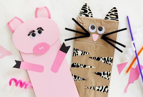 Cute DIY Paper Bag Crafts.