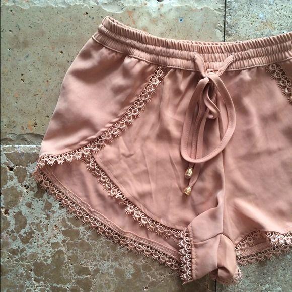 """Spotted while shopping on Poshmark: """"LF style lace trim shorts""""! #poshmark #fashion #shopping #style #Pants"""