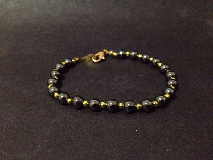 Pre Owned Hematite Beads Bracelet - 19cm long