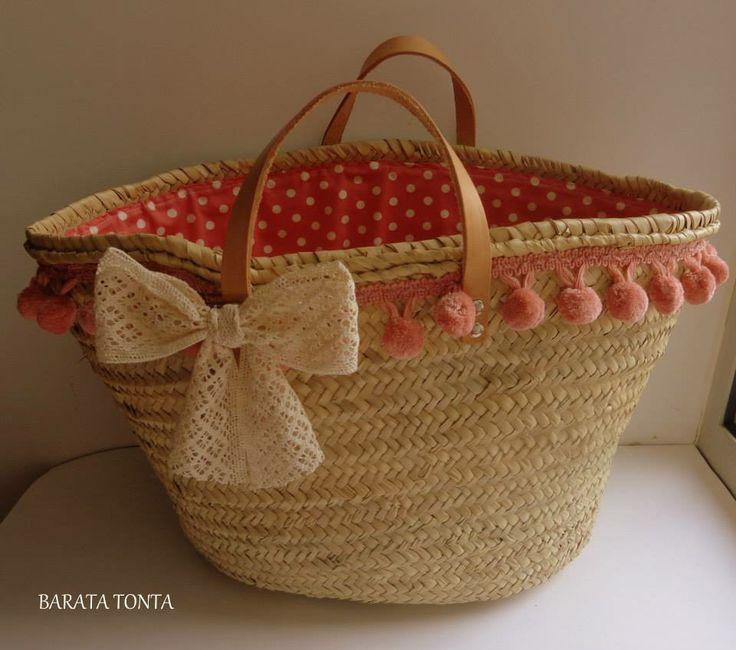 decoración cestas bolsos esparto cestos serillos capazos palma cestas