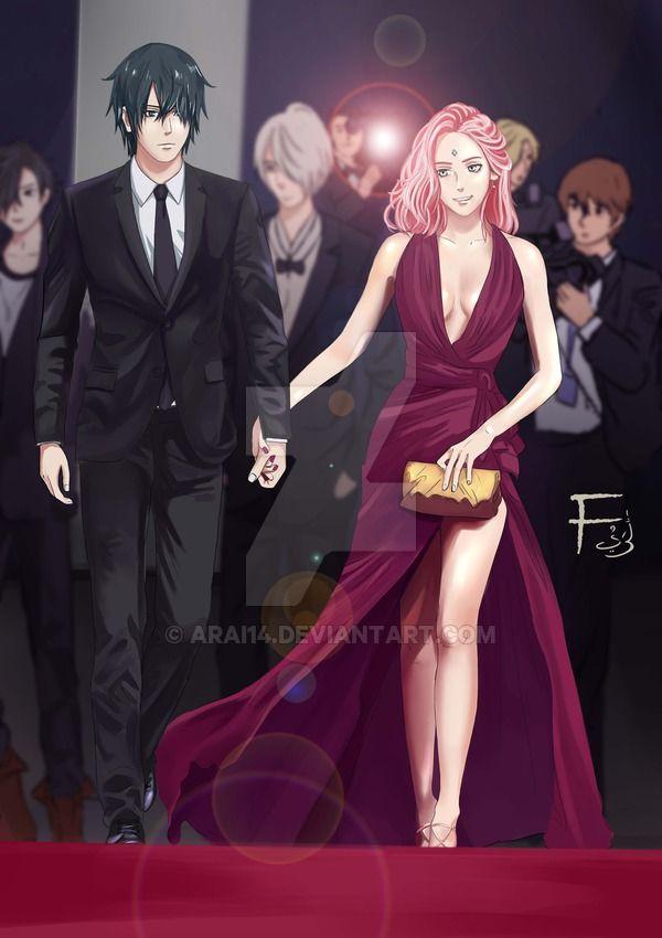 SasuSaku couple in red carpet by Arai14 on DeviantArt