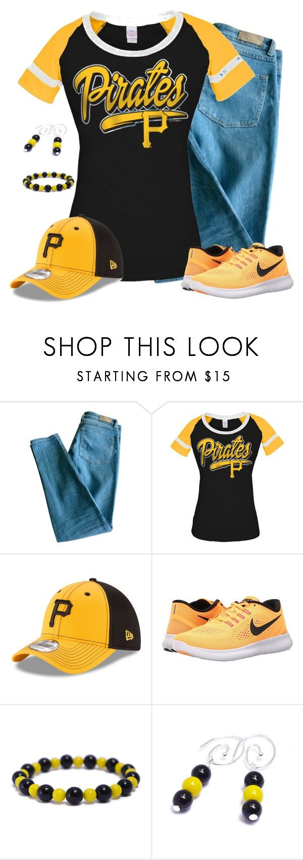 """""""Pittsburgh Pirates Game Day"""" by carriefdix ❤ liked on Polyvore featuring Sandro, 5th & Ocean, New Era and NIKE"""