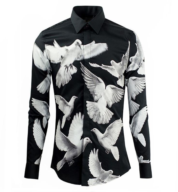 Find More Casual Shirts Information about Men Shirt High Quality Cotton Long Sleeve Men's Shirt Fashion Slim Dress Shirt Dove Black and White Printing Designer Shirts,High Quality shirt t shirt,China shirt baby Suppliers, Cheap shirt bike from DANEL 008 Store on Aliexpress.com