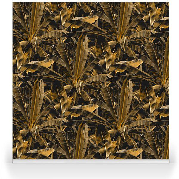 Crazy Banana Gold Wallpaper bespoke repeat pattern.
