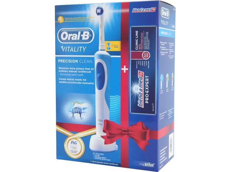 ORAL-B VITALITY PRECISION CLEAN+BLEND A MED XMAS PACK elektromos fogkefe - ORAL-B VITALITY PRECISION CLEAN+BLEND A MED XMAS PACK electric toothbrush