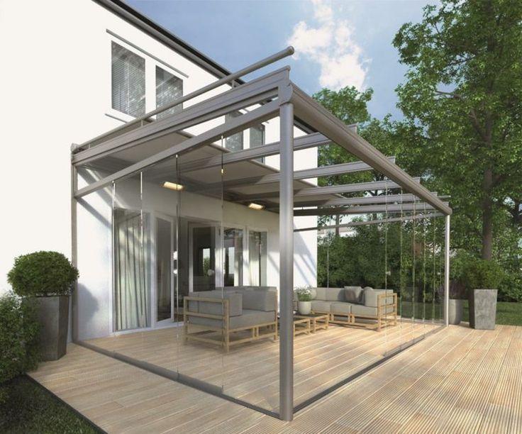 terrasse bois avec véranda