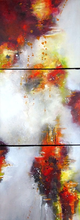 """Artist: Alison Johnson; Oil, 2012, Painting """"Expressive Delight"""""""