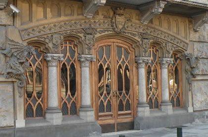 Torino, Corso Francia, Casa dei Draghi/Palazzo della Vittoria von Gottardo Gussoni (art nouveau house)
